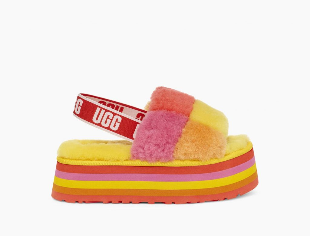 UGG Yellow rainbow Stripes Pride