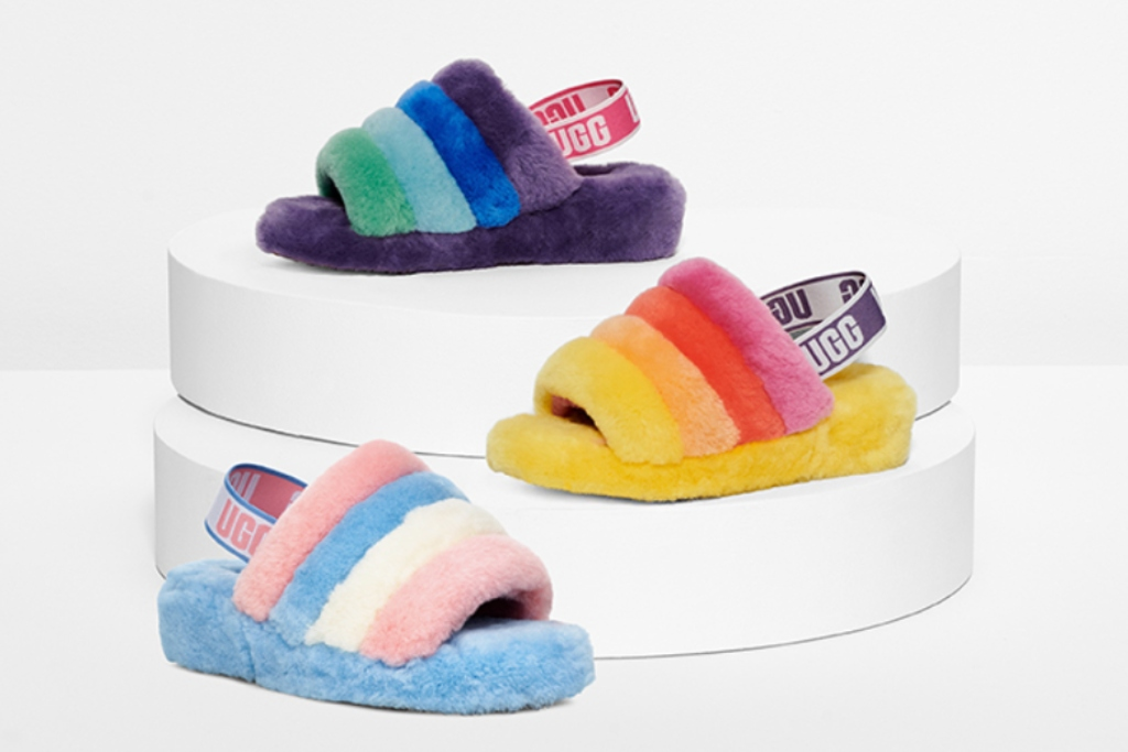 #UGGPride: UGG Launches Fluffy Rainbow Slides for Pride Month